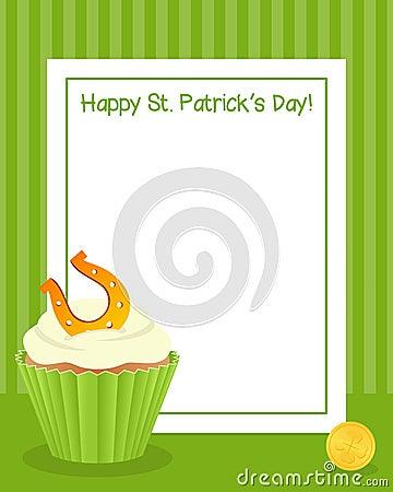Patrick s Day Cupcake Vertical Frame