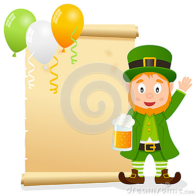 Patrick s Day Parchment with Leprechaun