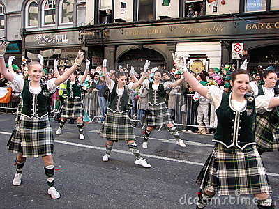 Patricks Day Colourful Spectators