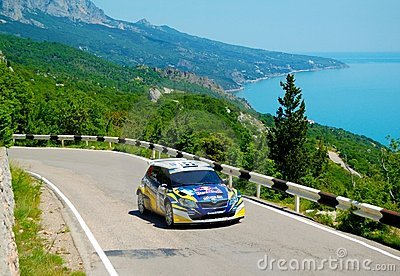 Patrik Sandell on the IRC Prime Yalta Rally 2011 Editorial Stock Photo