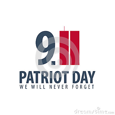 Free Patriot Day Emblems Or Logo. September 11. We Will Never Forget. Royalty Free Stock Image - 98143166