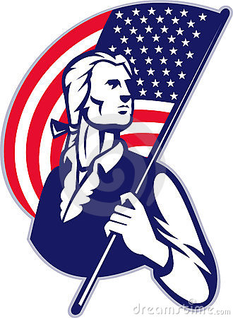 Patriot Minuteman American Flag
