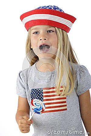 Patriot Pausing to Sing