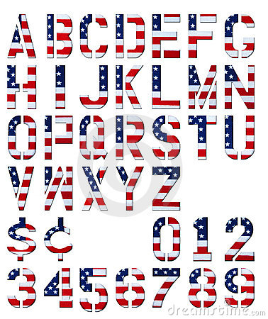 Patriotic Alphabet and Numbers