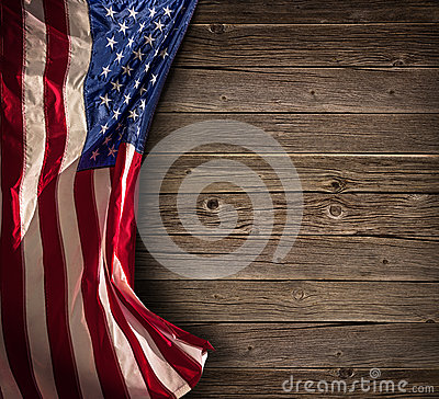Patriotic American Celebration - Aged Usa Flag Stock Photo