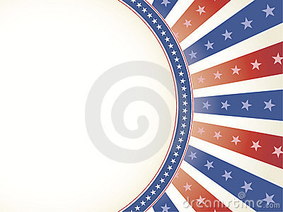 Patriotic Background with Oval Copy Space