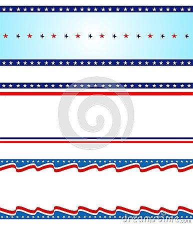 Free Patriotic Border Royalty Free Stock Photos - 100892608