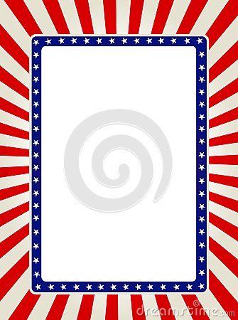 Free Patriotic Border Royalty Free Stock Image - 25112866