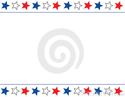 Blue and red patriotic stars and stripes page border frame design - Patriotic Border Royalty Free Stock Image Image 5261836
