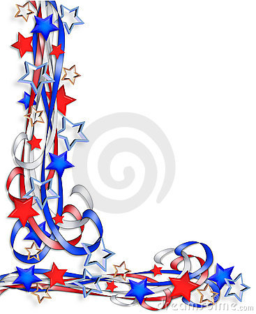 Free Patriotic Border Stars And Stripes Royalty Free Stock Photography - 7359177