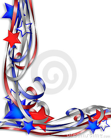Free Patriotic Border Stars Stripes Royalty Free Stock Photos - 4066678