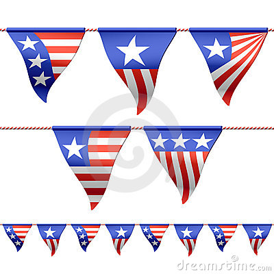 Patriotic bunting flags