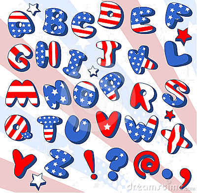 Patriotic Cartoon  font