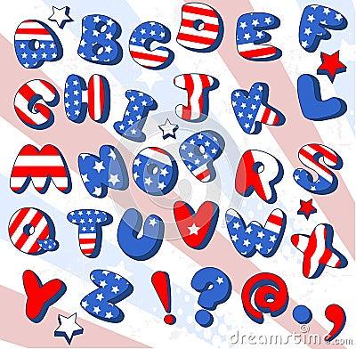 Patriotic Cartoon  font