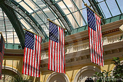 Patriotic Display Editorial Stock Image