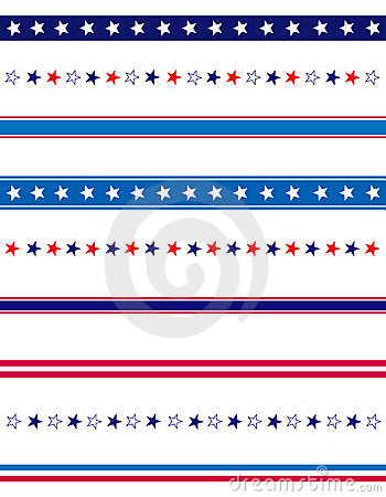 Free Patriotic Divider Border Stock Photography - 14417922
