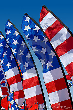 Free Patriotic Feather Flags Stock Images - 5360154
