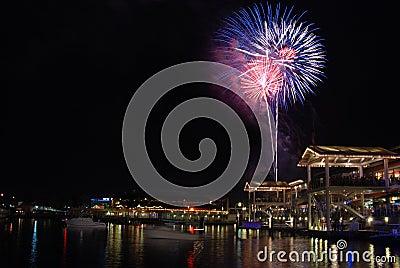 Patriotic Fireworks in Miami