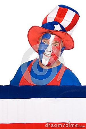 Patriotic fourth of July man