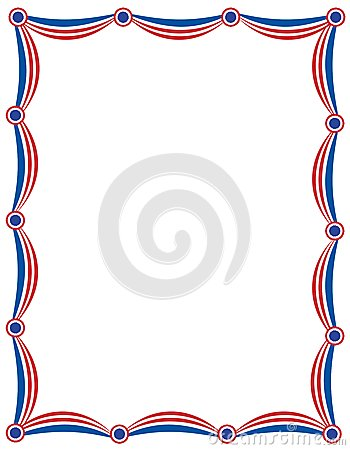 Patriotic garland border