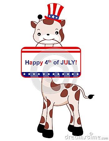 Patriotic giraffe