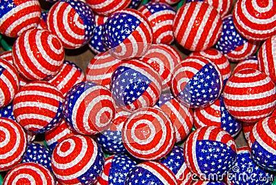 Patriotic Golfballs
