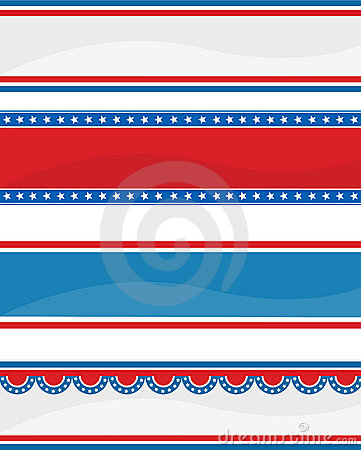 Patriotic header / banner