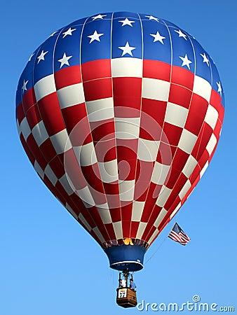 Free Patriotic Hot Air Balloon Royalty Free Stock Image - 1389256