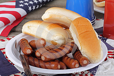 Patriotic Hot Dogs