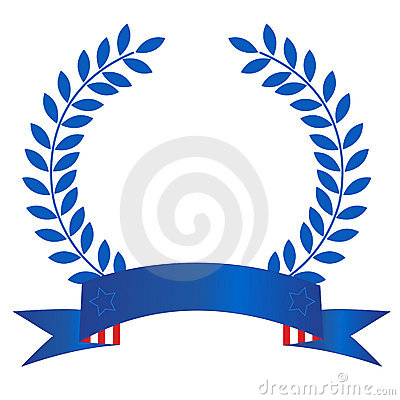 Patriotic laurel wreath