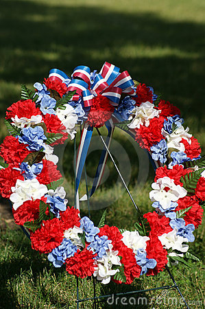 Patriotic Memorial Wreath Portrait