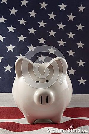 Patriotic Piggy Bank 4152