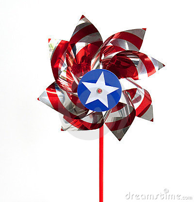 Patriotic Pin Wheel
