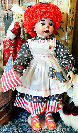 Patriotic Rag Doll