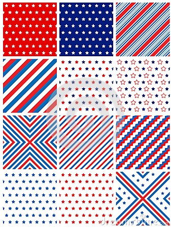 Patriotic seamless pattern