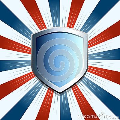 Patriotic shield background