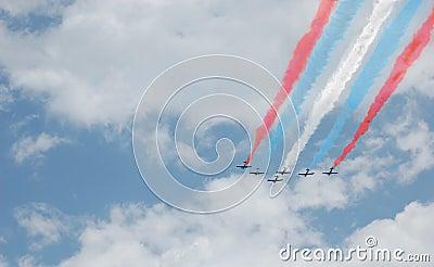 Patriotic Six Plane Formation