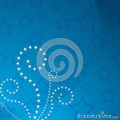 Patriotic Star Swirl Background