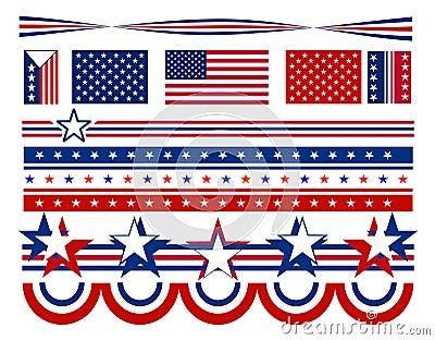 Patriotic Stars and Bars - USA