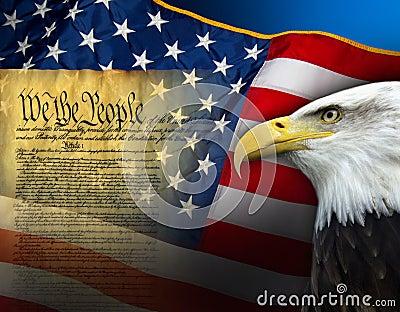 Patriotic Symbols United States Of America Stock Photo