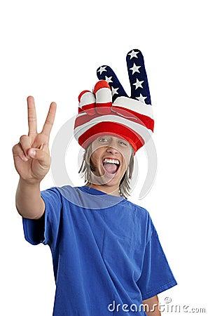 Free Patriotic Teen - Goofy Stock Photography - 707872