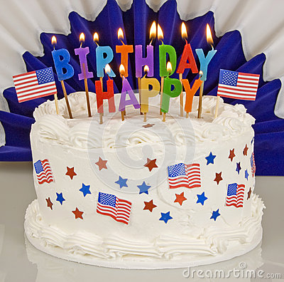 Patriotic 4th Of July Birthday Cake Stock Photo Image