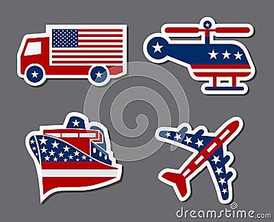 Patriotic Transportation Stickers