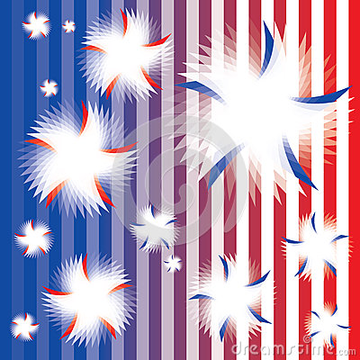 Patriotic Twirling Stars