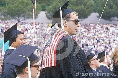 A patriotic UCLA graduate Editorial Stock Photo