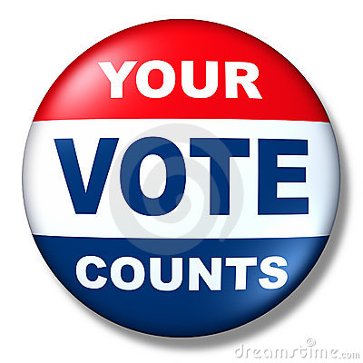 Patriotic vote button badge election politics