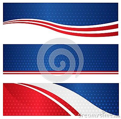 Patriotic web banner