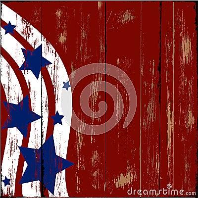 Patriotic Wood