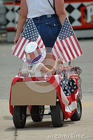 Patriotischer Lastwagen