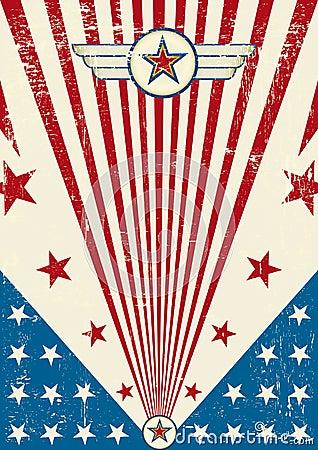 Patriotyczny plakatowy narys